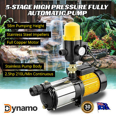 NEW Dynamo 5-Stage High Pressure Auto Water Pump Pool Garden Pond Feature Tank