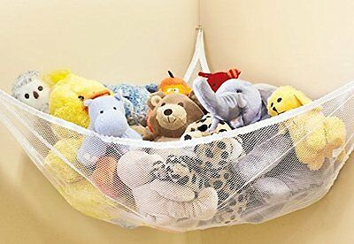 Large Hammock For Soft Toy Teddy Keep Baby/Children''s Bedroom Tidy Mesh Storage