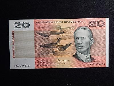 1966 First Prefix Coombs / Wilson Commonwealth Of Australia $20 Note - Cv $400