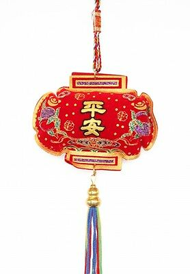 Feng Shui Chinese Safety Charm with 5-Color Tassels and Strings