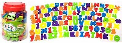 120 piece magnetic alphabet letters and numbers math set kids educational toy