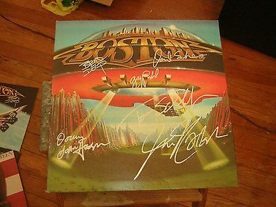 - Boston Signed Lp 1979 Dont Look Back Brad Delp All 6 Members