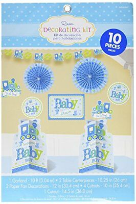 Amscan – 240889 Welcome Baby Boy Room Decoration Kit (M1d)