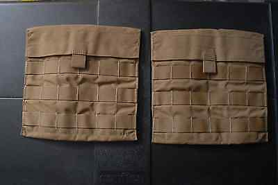 NEW SET OF 2 Eagle Industries Side Plate Pocket Carrier Pouch Coyote MOLLE USGI