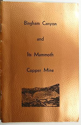 1940's 50's Binham Canyon Utah Copper Mine vintage info history booklet b