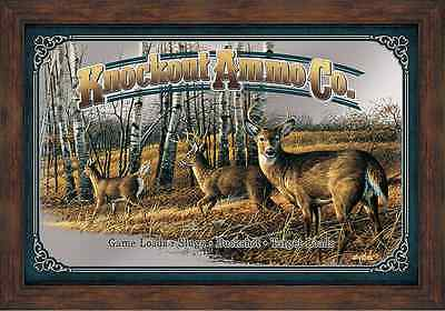 Knockout Ammo Co. Mirror, Terry Redlin, Lodge, Cabin, or Bar, Decor, Wild Wings