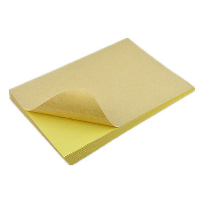1 - 300X A4 Kraft Paper Self Adhesive Printing Paper Shipping Packaging Label
