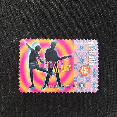 Australian 1998 45c Normie Rowe Shakin' All Over Stamp Used Excellent Cond