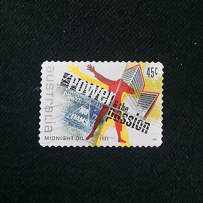 Australian 2001 45c Midnight Oil Postage Stamp Used Excellent Condition