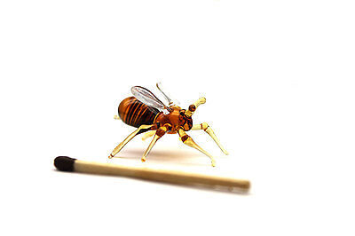 Glass Bee Blown Collectible Figurine, Bee Sculpture, Bee Figurine, Insects Bee