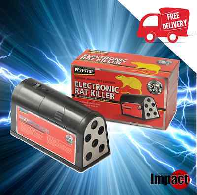 ELECTRONIC RAT RODENT KILLER electric zapper trap BATTERY OPERATED reusable NEW!
