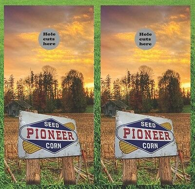 Pioneer Seed Corn Cornhole Wrap Decals Bag Toss 3M Vinyl 24x48 Fast Shipping