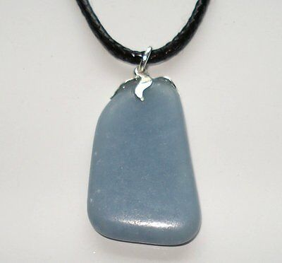 Angelite Pendant Necklace - Natural Healing Crystal