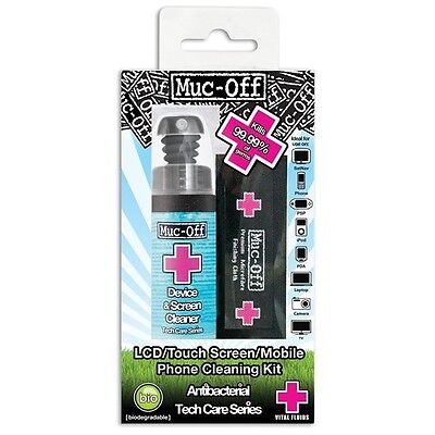 Muc Off Antibacterial Mobile Phone Laptop Tablet TV LCD Screen Device Cleaner