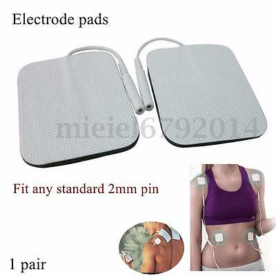 Square Long Life Tens Machine Replacement Electrode Pads Reusable Self Adhesive