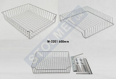 PullOut Front Mounting Wire Basket Kitchen Storage Cupboard Soft Close W2201 600