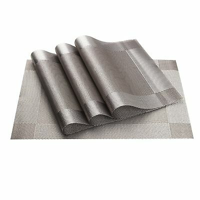 Table Mats (Set of 4) vGoodo Placemats Washable Table Place Dinner Mats Prote...