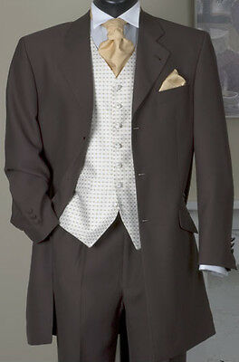 Joblot of 10 brown mens suits-wedding-prom (ex-hire)