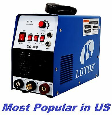 LOTOS TIG200A DC Tig/Arc Welder Inverter free foot pedal