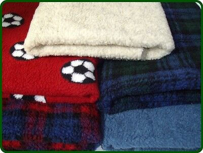 PnH® Luxury Dog Pet Blanket - DOUBLE LAYERED FLEECE - Many Colours and Sizes