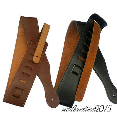 Electric Bass Guitar PU leather Bass Belt Straps Adjustable Acoustic Folk