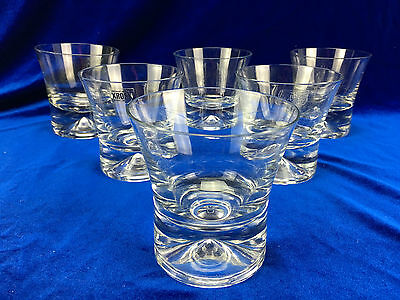 Vintage Set of 6 KROSNO Heavy Tumbler Glasses POLAND Whiskey Glass Barware