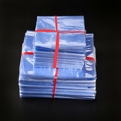 PVC Heat Shrink Bags Flat Poly Wrap Film For Bottles Clothes Packaging