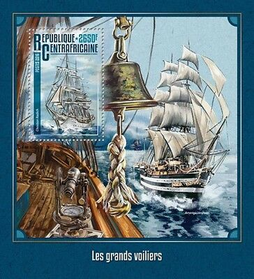 Z08 CA16210b CENTRAL AFRICA 2016 Tall ships MNH