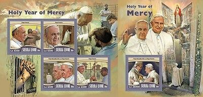 Z08 SRL16706ab SIERRA LEONE 2016 Holy Year of Mercy MNH Jeu