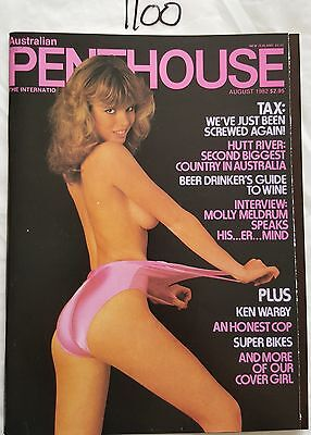 Penthouse Australian 1982 August *near Mint* Molly Meldrum Interview
