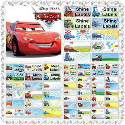 Cars Vinyl Name Labels Bottle Lunchbox School Personalised Kids Iron On Sticker