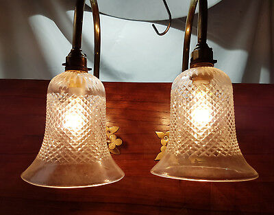 Original Gas wall Light Converted To Electricity With Genuine Clear Shade