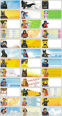 2 Sizes Lego Movie Name Labels Drink Bottle Lunchbox School Personalised Kids