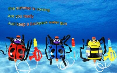 1.4L Kids Ladybird Water Gun Toy Outdoor Super Soaker Backpack Squirt Pool Toy