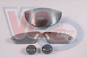 Yamaha Aerox - Carbon Look IND & Tail Lens Set - 2000 On- Screw On Rear IND Lens