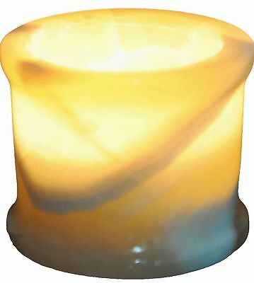 Egyptian Real Alabaster stone / marble Candle holder votive