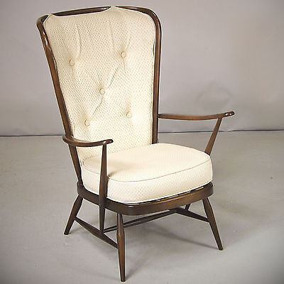 Armchair / Lounge Chair - Ercol, Dark, Retro (delivery available)