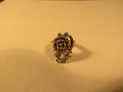 Sterling silver 'rose' ring.