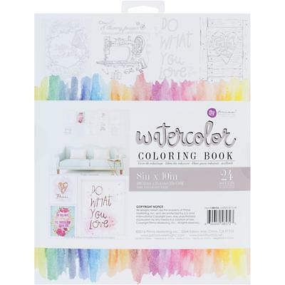 PRIMA Watercolor Paper Coloring Book - 24 Frameable Pages!