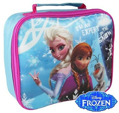 Disney Frozen Thermal Insulated Lunch Bag Box Kids Picnic School Anna Elsa Olaf