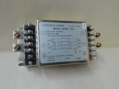 Nemic.lambda  Noise Filter Myb-1250-33 250V-50A 50/60Hz Tv2500V~1Min