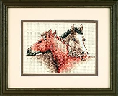 Dimensions - Mini Counted Cross Stitch Kit - Horse Pals - D65030