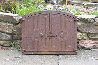 48 x 38 cm old cast iron fire door clay bread oven doors pizza stove smoke house