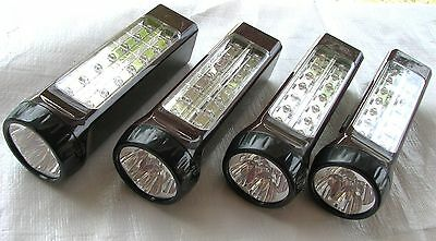 4Pack 14 Led Rechargeable Auto On/off Power Failure Emergency Light Flashlight
