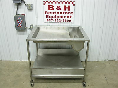 """32"""" x 38"""" Stainless Steel 26"""" x 32"""" ID Donut Icing Bakery Glazing Table"""