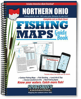 Northern Ohio Fishing Map Guide Book