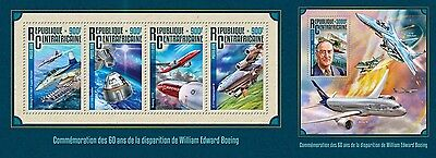 Z08 IMPERFORATED CA16203ab CENTRAL AFRICA 2016 William Edward Boeing MNH Set