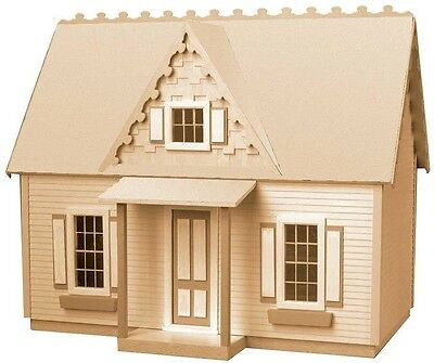 Paintable Stainable 5 Room Victorian Cottage Dollhouse Kit Craft DIY Set Project