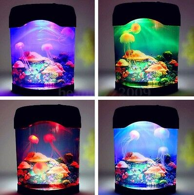 New Enhances Mood Led Lighting Colour Changing  Jelly Fish Tank Best Gifts