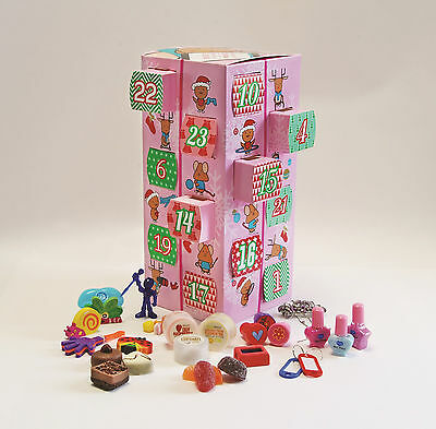 Advent Gift Box Make and Personalise Your Own Advent Calendar Kit (Pink)